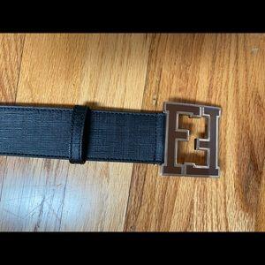 Fendi, Men's Belt, Black